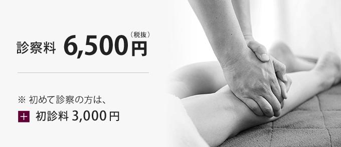 診察料6,500円 ※初めて診察の方は+診察料3,000円